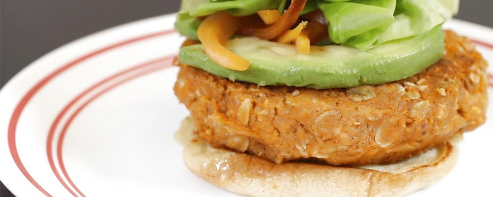 Easy Chew Recipes: Sweet Potato Burger