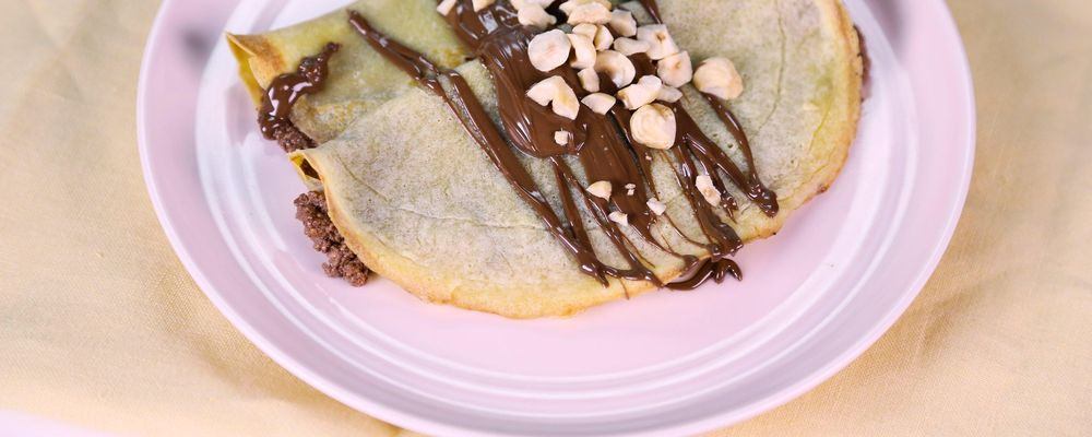 Chocolate Hazelnut Ricotta Crepes