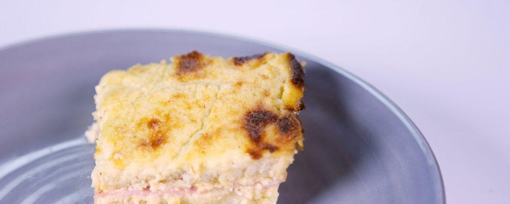 Croque Madame Bread Pudding