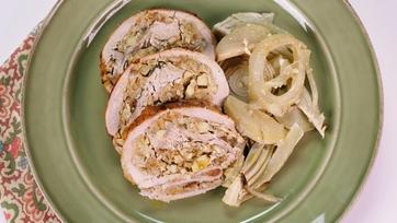 Garlic and Fennel Stuffed Turkey