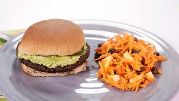"""Grillin\' Out Veggie Style"" Black Bean Burger"