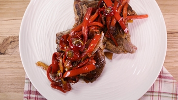 Pork Chops with Peppers and Capers