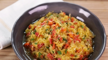 Spaghetti Squash with Roasted Red Peppers