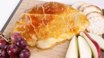 Baked Brie with Apricot Preserves