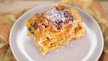 Pumpkin Lasagna with Bechamel Sauce