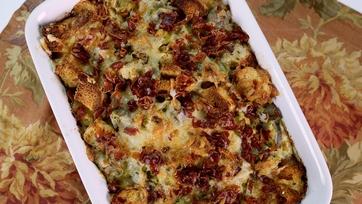 Leek & Artichoke Bread Pudding
