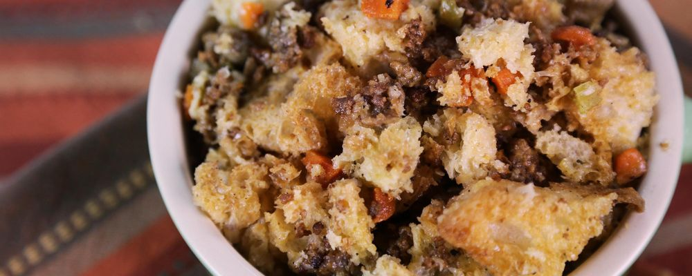 Test kitchen stuffing recipe by tyler florence the chew Tyler florence recipes turkey