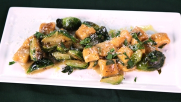 Sweet Potato Gnocchi with Brussels Sprouts and Brown Butter