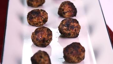 Fried Mini Pork Meatballs