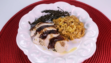 Red Wine Stained Capon and Risotto
