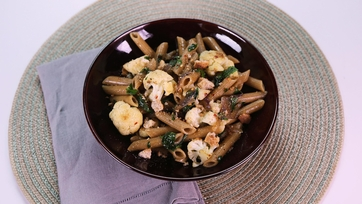 Whole Wheat Pasta with Tuscan-Style Cauliflower