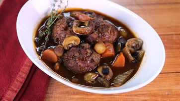 Chicken Meatball Bourguignon
