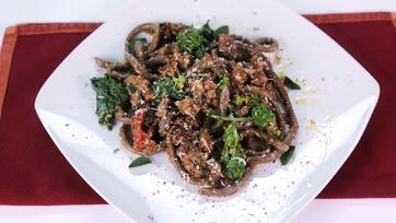 Chocolate Pasta with Spicy Sausage Ragu