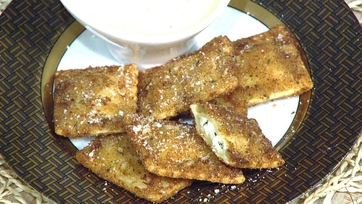 Toasted Ravioli with Pecorino Fonduta