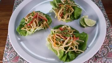 Thai Rice Noodle Wraps