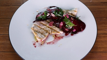 Shaved Beet, Herb and Almond Salad