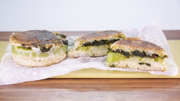 Collard Green Grilled Cheese