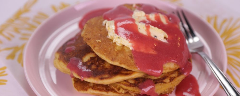 Cornmeal Griddle Cakes Recipe by Daphne Oz - The Chew