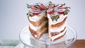 Strawberry Lemon Layer Cake