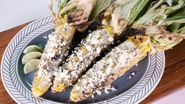 Avocado-Ranch Grilled Corn