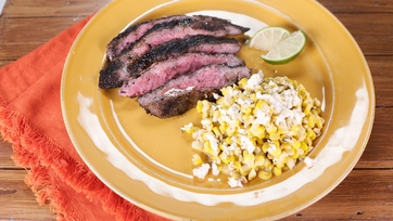 Chili-Lime Mexican Corn and Flank Steak