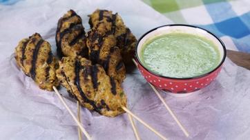 Harjeev\'s Turkey Kebabs with Green Chili Chutney