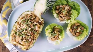 Pine Nut Chicken Lettuce Cups
