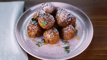 Toasted Almond Ricotta Fritters