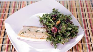 Seared Trout with a Cherry Quinoa Salad