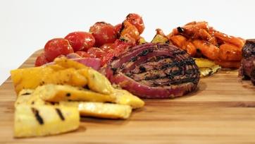 Mustard-Marinated Grilled Veggies