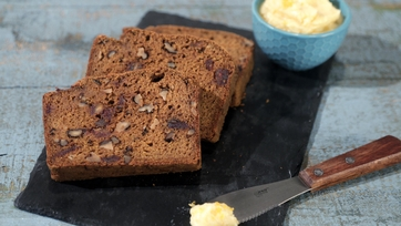 Pumpkin Bread with Dates and Walnuts
