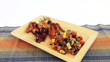 Pan-Roasted Chicken with Vegetable Ragu