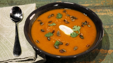 Roasted Curried Pumpkin Soup