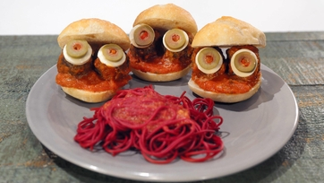 Spooky Eye-Ball Sandwiches