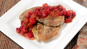 Pork Medallions with Fresh Cranberries