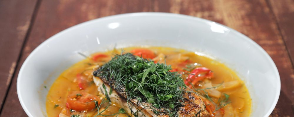 Fish in crazy water recipe by mario batali the chew for Mario go fish