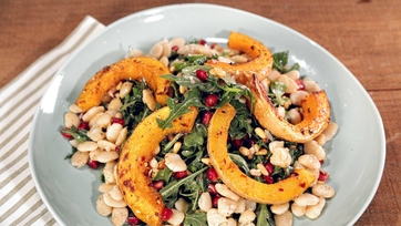 Country Roasted Squash and Beans