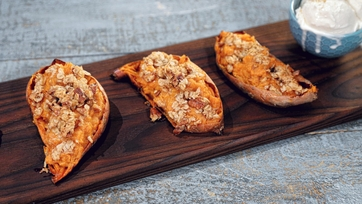 Double Stuffed Sweet Potato Crisp