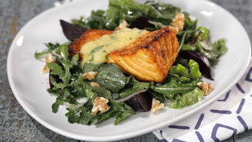 Roasted Salmon and Beet Salad