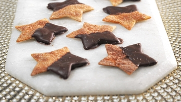 Cinnamon-Sugar Chocolate Dipped Stars