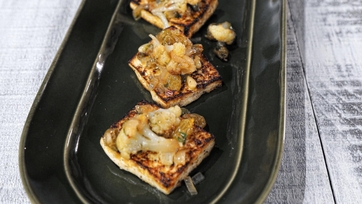Tofu & Cauliflower with Capers and Pine Nuts