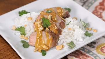 Pork Tenderloin with Peanut Sauce