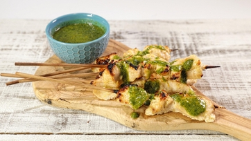 Yogurt-Marinated Chicken Kebobs