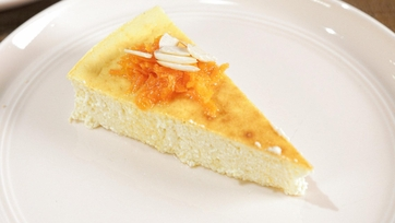 Lemon, Ricotta, Yogurt Cake with Carrot Preserves