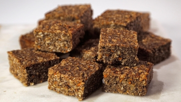 Carrot Walnut Oat Bars