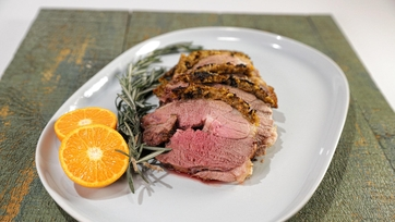 Leg of Lamb Roast with Clementine Crust