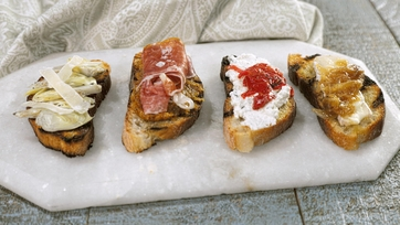Party Crostini Four Ways