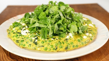 Springtime Frittata with Watercress Salad