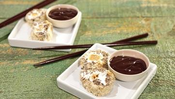 Chocolate Peanut Sesame Sushi