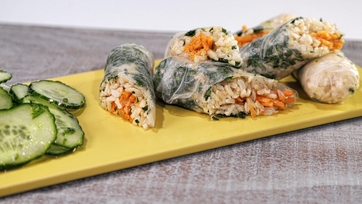 Lemon Carrot Summer Rolls